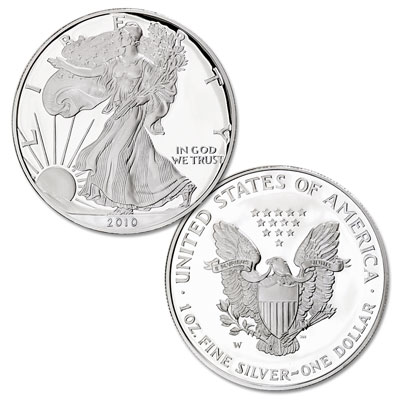 Image for 2010-W American Eagle Silver Dollar, Proof from Littleton Coin Company