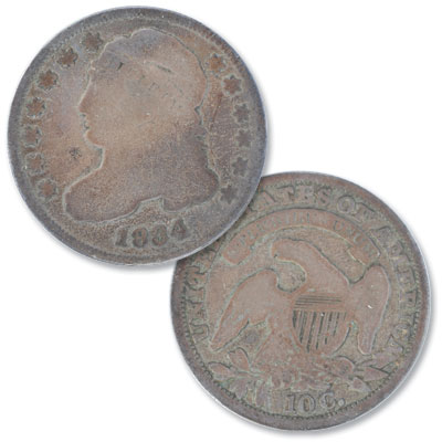 Image for 1834 Capped Bust Dime, Small 4 from Littleton Coin Company