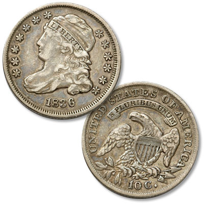 Image for 1836 Capped Bust Dime from Littleton Coin Company