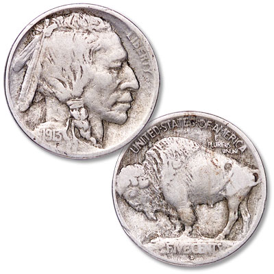 Image for 1913-D Buffalo Nickel, Variety 1, Raised Mound from Littleton Coin Company