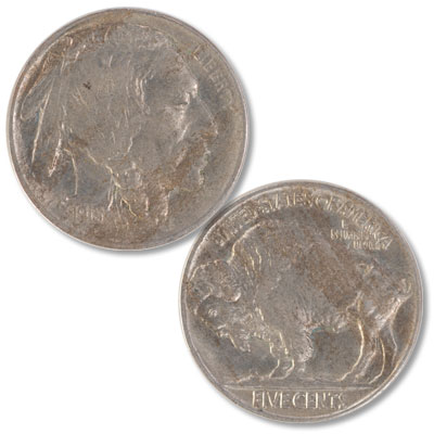 Image for 1913 Buffalo Nickel, Variety 2, FIVE CENTS in Recess from Littleton Coin Company