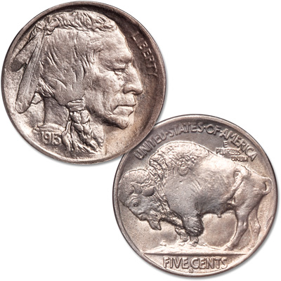 Image for 1913-S Buffalo Nickel, Variety 2 from Littleton Coin Company