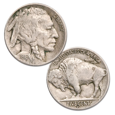 Image for 1916-D Buffalo Nickel from Littleton Coin Company