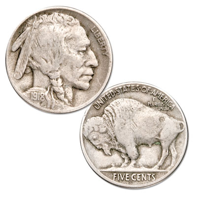 Image for 1918-S Buffalo Nickel from Littleton Coin Company