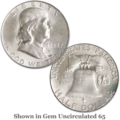 Image for 1948 Franklin Half Dollar with Full Bell Lines from Littleton Coin Company