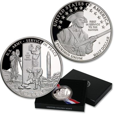 Image for 2011-S U.S. Army Clad Half Dollar from Littleton Coin Company