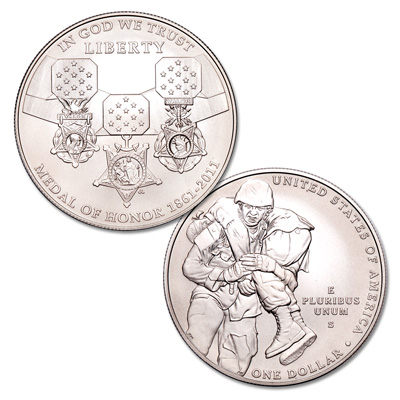 Image for 2011-S Medal of Honor Silver Dollar Commemorative from Littleton Coin Company