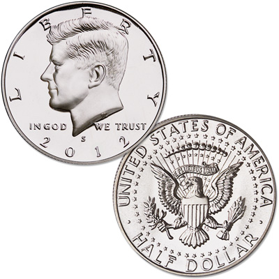 Image for 2012-S 90% Silver Kennedy Half Dollar from Littleton Coin Company