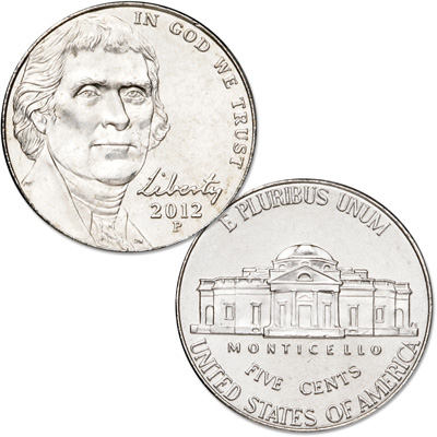 Image for 2012-P Jefferson Nickel from Littleton Coin Company