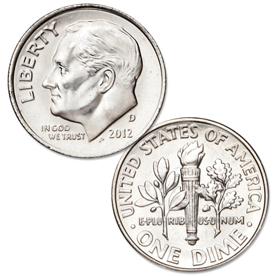 Image for 2012-D Roosevelt Dime from Littleton Coin Company