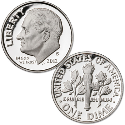 Image for 2012-S Roosevelt Silver Dime from Littleton Coin Company
