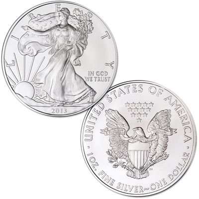 Image for 2013 $1 Silver American Eagle from Littleton Coin Company