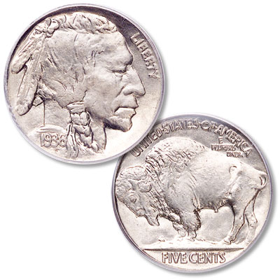 Image for 1936 Buffalo Nickel from Littleton Coin Company