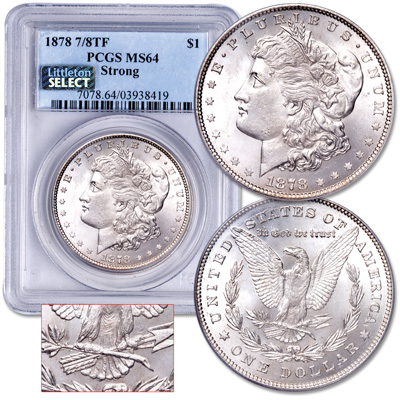 Image for 1878 7/8 Tail Feathers Morgan Silver Dollar from Littleton Coin Company