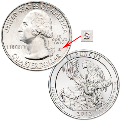 Image for 2012-S Unc. El Yunque National Forest Quarter from Littleton Coin Company