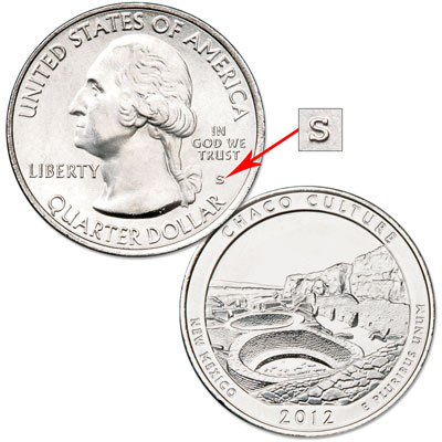 Image for 2012-S Unc. Chaco Culture National Historical Park Quarter from Littleton Coin Company