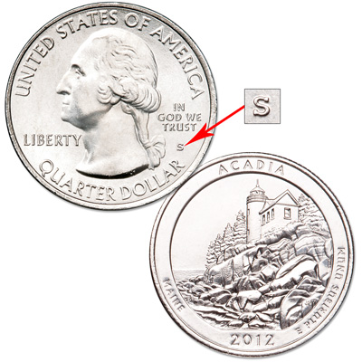 Image for 2012-S Unc. Acadia National Park Quarter from Littleton Coin Company