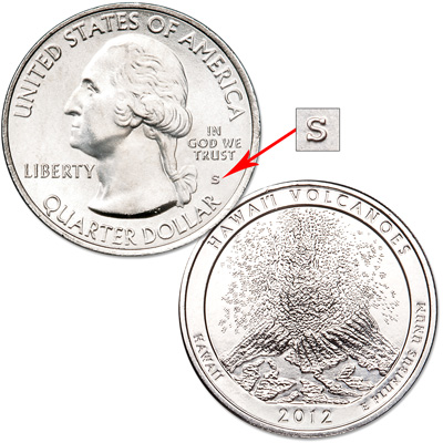 Image for 2012-S Unc. Hawai'i Volcanoes National Park Quarter from Littleton Coin Company