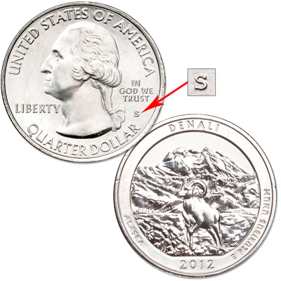 Image for 2012-S Unc. Denali National Park & Preserve Quarter from Littleton Coin Company