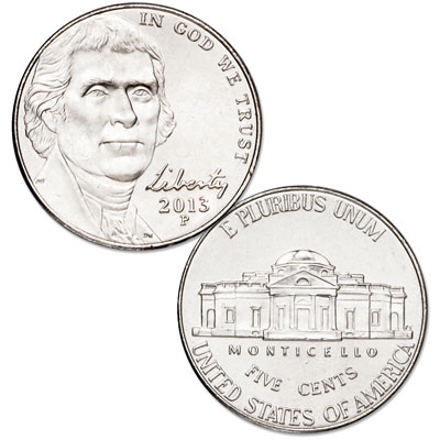 Image for 2013-P Jefferson Nickel from Littleton Coin Company