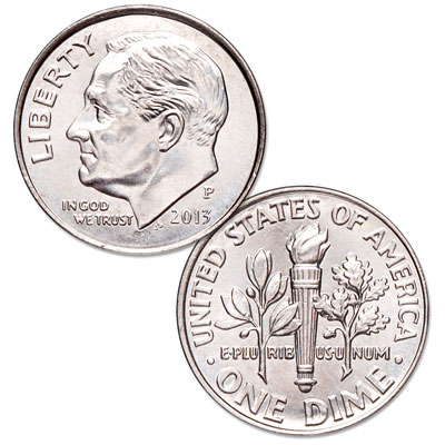 Image for 2013-P Roosevelt Dime from Littleton Coin Company