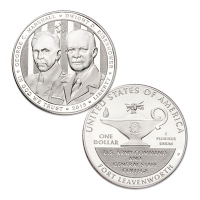 Image for 2013 5-Star Generals Commemorative Silver Dollar from Littleton Coin Company
