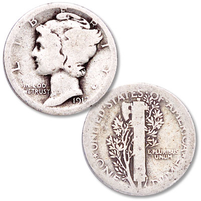 Image for 1917 Mercury Dime from Littleton Coin Company