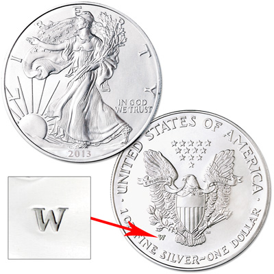 Image for 2013-W Burnished American Eagle Silver Dollar from Littleton Coin Company