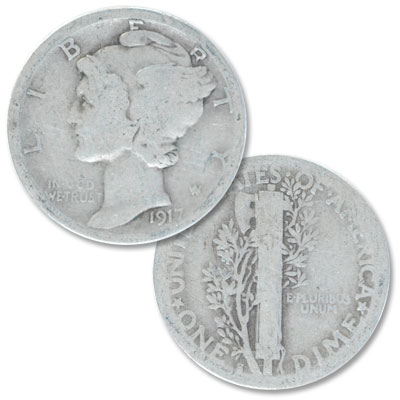 Image for 1917-S Mercury Dime from Littleton Coin Company