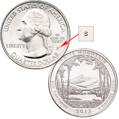 Image for 2013-S Unc. White Mountain National Forest Quarter from Littleton Coin Company