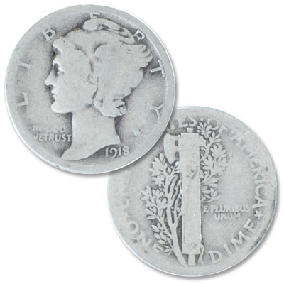 Image for 1918 Mercury Dime from Littleton Coin Company