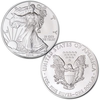 Image for 2014 $1 Silver American Eagle from Littleton Coin Company