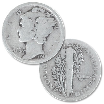 Image for 1918-D Mercury Dime from Littleton Coin Company
