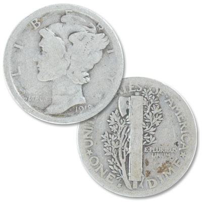 Image for 1918-S Mercury Dime from Littleton Coin Company