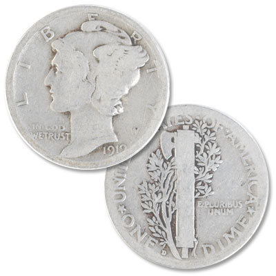 Image for 1919-D Mercury Dime from Littleton Coin Company
