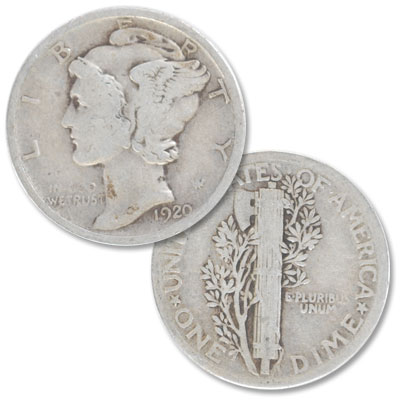 Image for 1920 Mercury Dime from Littleton Coin Company