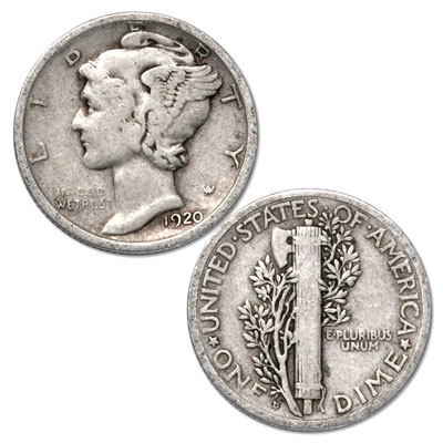 Image for 1920-D Mercury Dime from Littleton Coin Company