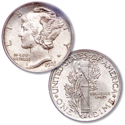 Image for 1921 Mercury Dime from Littleton Coin Company