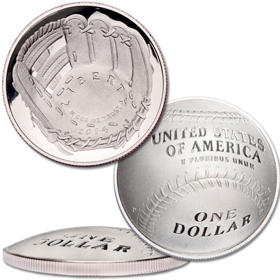 Image for 2014 National Baseball Hall of Fame Silver Dollar from Littleton Coin Company