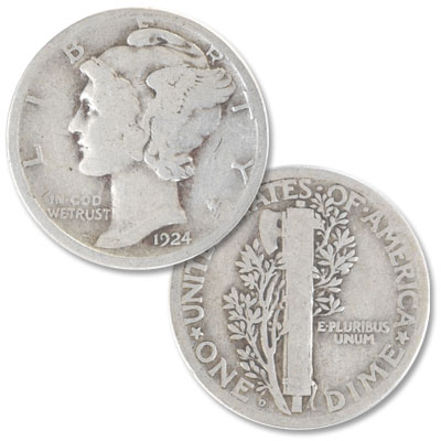 Image for 1924-D Mercury Dime from Littleton Coin Company
