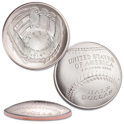 2014 Baseball Hall of Fame Commerative Coin Uncirculated Clad Half-Dollar