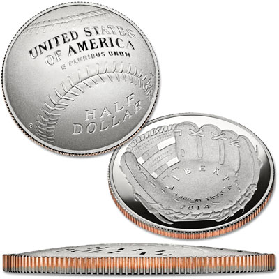 Image for 2014-S Baseball Hall of Fame Clad Half Dollar from Littleton Coin Company