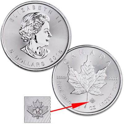Image for 2015 Canada Silver $5 Maple Leaf from Littleton Coin Company