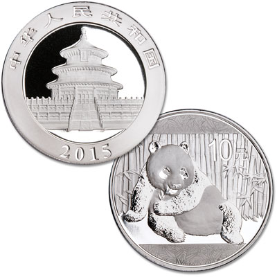 Image for 2015 China 1 oz. Silver 10 Yuan Panda from Littleton Coin Company