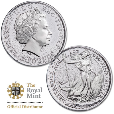 Image for 2015 Great Britain 1 oz. Silver £2 Britannia from Littleton Coin Company