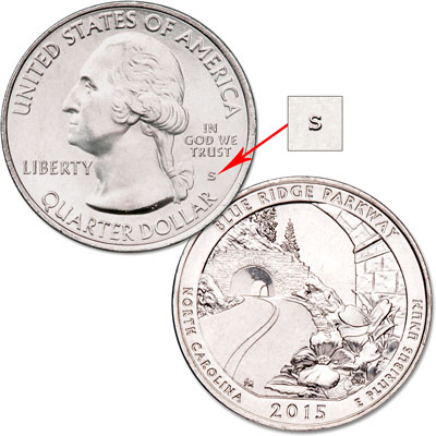 Image for 2015-S Unc. Blue Ridge Parkway Quarter from Littleton Coin Company