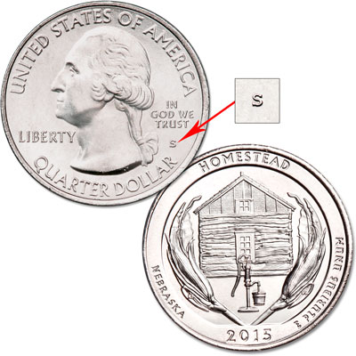 Image for 2015-S Unc. Homestead National Monument of America Quarter from Littleton Coin Company