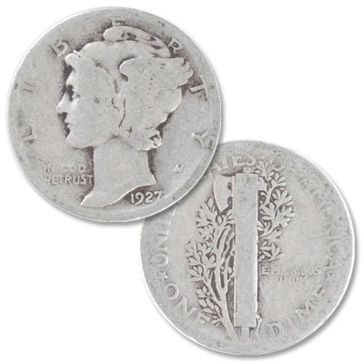 Image for 1927 Mercury Dime from Littleton Coin Company