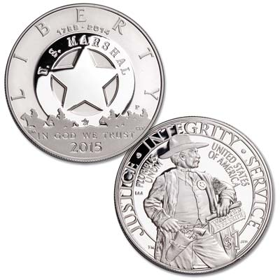 Image for 2015-P U.S. Marshals Service Commemorative 90% Silver Dollar from Littleton Coin Company