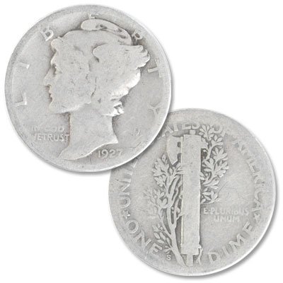 Image for 1927-S Mercury Dime from Littleton Coin Company